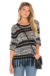 Minkpink Smoke On The Water Sweater Black And White