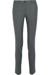 Michael Kors Collection Samantha Stretch Wool Tweed Skinny Pants Gray