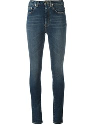 Saint Laurent Original High Waisted Jeans Blue