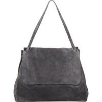 The Row Top Handle 14 Satchel Pewter
