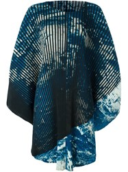 Issey Miyake Pleated Dress Blue