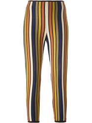 Jean Paul Gaultier Vintage Striped Leggings Multicolour