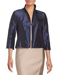 Pauw Silk Cropped Jacket Navy