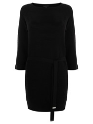 Warehouse Knitted Belted Tunic Black