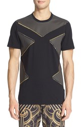 Versace Men's Studded Colorblock T Shirt