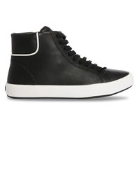 Camper Black Andratx Smooth Leather High Top Sneakers With Side Zip