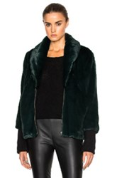 Marissa Webb Aria Faux Fur Coat In Green
