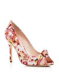 Sjp By Sarah Jessica Parker Gabrielle Floral Print Peep Toe Pumps Recollection