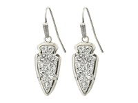 Kendra Scott Kate Earrings Antique Silver Platinum Drusy Earring