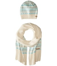 Columbia Winter Worn Hat And Scarf Set Chalk Cold Weather Hats White