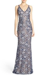 Women's Jovani Embellished Lace Gown