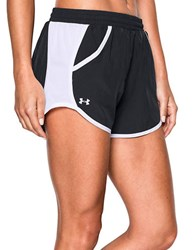 Under Armour Fly By Lightweight Shorts Black White