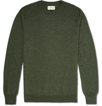 Oliver Spencer Pencer Blade Merino Wool Weater Army Green