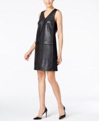 Alfani Prima Faux Leather Dress Only At Macy's Deep Black