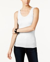 Inc International Concepts Ribbed Tank Top Only At Macy's Bright White