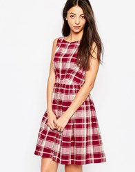 Emily And Fin Emily And Fin Abigail Dress In Check Print Red