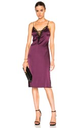 Kiki De Montparnasse Lace Paneled Inset Dress In Purple