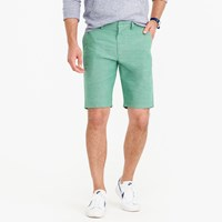 J.Crew 10.5 Short In Rugby Green Chambray