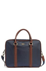 Ted Baker Men's London Carbon Briefcase Blue Navy