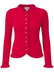 Pure Collection Gwynne Cashmere Cardigan Pillarbox Red