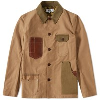 Junya Watanabe Man Eye Moleskin Work Jacket Brown
