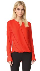 Rag And Bone Max Blouse Fiery Red