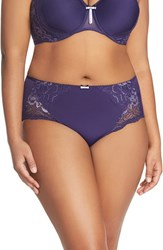 Plus Size Women's Elomi 'Amelia' Briefs Ink