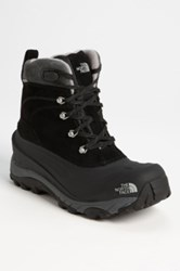 The North Face 'Chilkat Ii' Fleece Lined Snow Boot Black