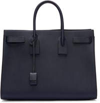 Saint Laurent Navy Sac De Jour Tote
