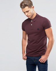 United Colors Of Benetton Pique Polo Shirt In Slim Fit Wine 1H8 Red