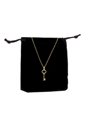 Topshop Premium Key Charm Necklace Gold