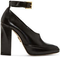 Maiyet Black Leather Cecile Heels