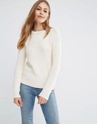 Pepe Jeans Camelia Cable Knit Jumper 814Ecru Red