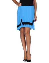 Space Style Concept Mini Skirts Azure