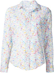 Frank And Eileen Floral Print Shirt White