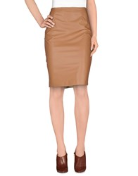 Betty Blue Skirts Knee Length Skirts Women Beige