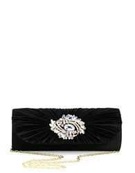 Sasha Embellished Flap Clutch Black