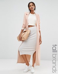 Missguided Tall Duster Coat Taupe Beige