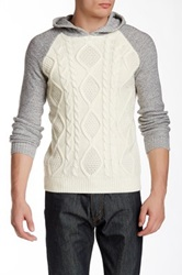 Sovereign Code Old Town Cable Knit Hooded Sweater Gray