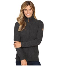 Fjall Raven Vik Zip Cardigan Dark Grey Women's Sweater Gray