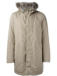 Herno Classic Parka Nude And Neutrals