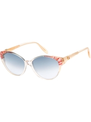 Yves Saint Laurent Vintage Pearly Trim 80S Sunglasses Nude And Neutrals