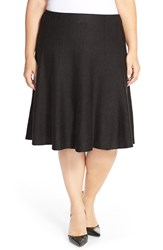 Plus Size Women's Nic Zoe 'Twirl Flirt' Paneled Skirt Black Onyx