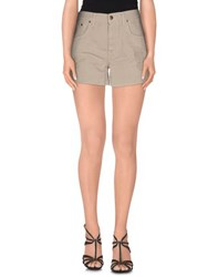 People Denim Denim Shorts Women Beige