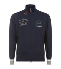 La Martina Full Zip Cashmere Blend Sweater Male Navy