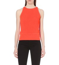 J Brand Sleeveless Knitted Top Persimmon