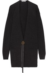 Helmut Lang Oversized Wool And Cashmere Blend Cardigan Charcoal