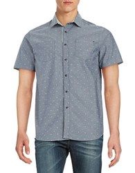 Howe Contrast Patterned Button Down Shirt Navy