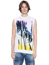 Dsquared Twisted Cotton Jersey Sleeveless T Shirt