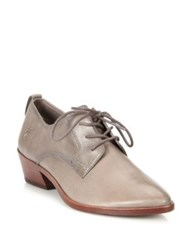 Frye Reese Leather Oxford Shoes Cement White